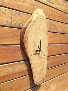 Rustic Wood Wall Clock, Large Wooden Wall Clock, Clocks For Wall, Large Wood Slice, Unusual Wall Clock by WoodclockDesign on Etsy
