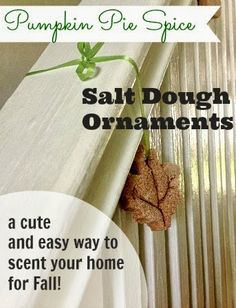Make these cute scented ornaments using basic supplies from your pantry!