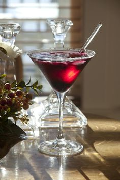 Did you expect mango in your Blueberry Martini? It works surprisingly well.