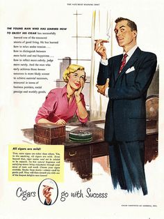 1950 Ad for the Cigar Institute of America