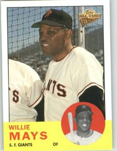 2004 Topps All-Time Fan Favorites #1 Willie Mays - San Francisco Giants (Baseball Cards) by Topps All-Time Fan Favorites. $3.89. Any Questions or Better Image Needed - Please Ask the Seller. Card Condidtion is Near Mint (NM) or Better, unless otherwise stated. 100,000s of Sports Cards Listed Here. Most Cards Shipped in Soft Sleeve and/or Top Load (See Shipping). Listing is for (1) One Single MLB Baseball Trading Card. 2004 Topps All-Time Fan Favorites #1 Willie...