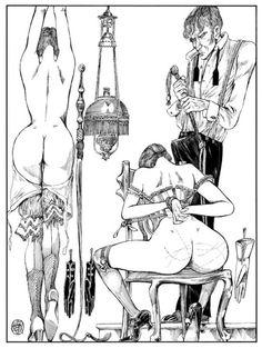 Louise Brooks and Valentina shackled comic art by Crepax Bilal, Comics Pdf, Metal Magazine, Morris, Shades Of Red, Erotic Art, Art Forms, Art Quotes, Illustrators