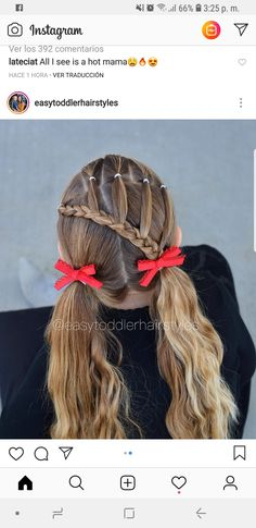 Peinados Renata Flower Girl Hairstyles, Little Girl Hairstyles, Cute Hairstyles, Baby Girl Hair, My Girl, Toddler Christmas, Toddler Hair, Little Girls, Kids Fashion