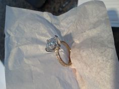 18kt yellow gold and platinum ring