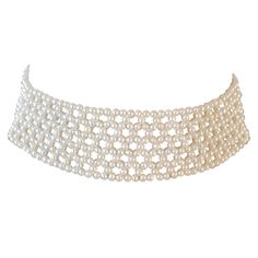 Pearl Choker   From a unique collection of vintage choker necklaces at https://www.1stdibs.com/jewelry/necklaces/choker-necklaces/
