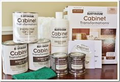 One day in Home Depot I came across this new product by Rust-oleum and it intrigued me. Rust-oleum Cabinet Transformation Kit claimed that no sanding or priming is needed. This sounded too good to be true!