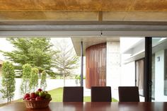 Dining Room Interior Design Among Wooden Table Also Brown Chair Furniture Open Dining Area With Darkwood Table And Grey Chairs
