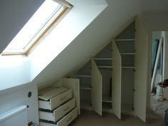 Möbler under ramp - Möbler under ramp - Attic Master Bedroom, Attic Bedrooms, Bedroom Loft, Home Bedroom, Wardrobe Closet, Closet Space, Loft Storage, Attic Conversion, Home Organisation