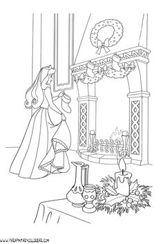 Barbie Coloring Pages, Disney Princess Coloring Pages, Disney Princess Colors, Coloring Book Art, Colouring Pages, Adult Coloring Pages, Coloring Pages For Kids, Sleeping Beauty Coloring Pages, Christmas Coloring Pages