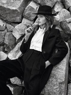 Sasha Pivovarova by Gregory Harris for Vogue Paris November 2016