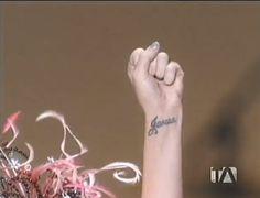I love Katy Perry tattoo on her left wrist...