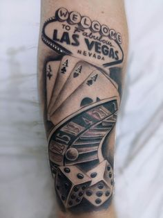 Gambling tattoo blackandgrey game las vegas roulette