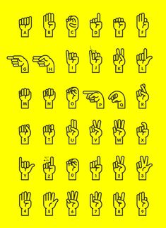 Sign Language Alphabet A New Display Typeface for hand sign language alphabet. Done in June 2013