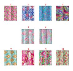 Polyester Waterproof Shower Curtain Lilly Pulitzer Pattern