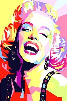 Marilyn Monroe Pop Art ...... #popart #marilynmonroe #iconic #normajeane #pinup #art #monroe #artist #marilyn