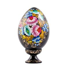 Shop Wooden Eggs, Ukrainian Hand Painted Wooden Easter Eggs, Blooming Flowers Hand Painted Egg