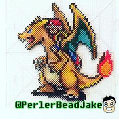 Charizard - Pokemon perler beads by perlerbeadjake