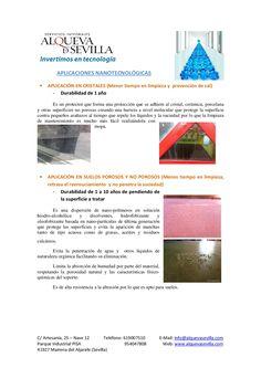 Aplicaciones nanotecnológicas - Dossier - Alqueva Sevilla