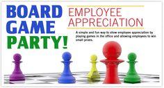 Board Game Employee Appreciation Party #eventtips #eventideas