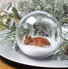 Clear Acrylic Fillable Ball Ornament - Acrylic Fillable Ornaments - Christmas and Winter - Holiday Crafts Clear Ornaments, Ball Ornaments, Diy Christmas Ornaments, Christmas Balls, Christmas Decorations, Deer Ornament, Ornament Crafts, Holiday Crafts, Wine Bottle Crafts