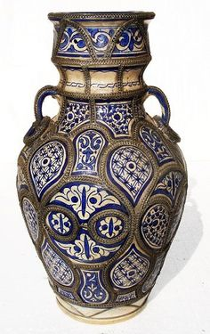 Antique Moroccan Vase Ceramics Pottery Pinterest