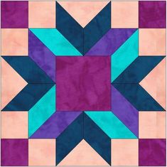 Merry Kite 15 Inch Quilt Block Template Pattern | Craftsy