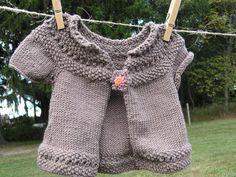 Ultra soft merino blend hand knit baby sweater by ClabberGlynnFarm, $35.00