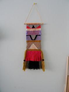 Hand Woven Hanging Wall Tapestry van racheljOK op Etsy