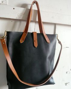 black and tan woodsman tote by fluxproductions on Etsy, $380.00