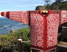 Ravelry: Tracys sirkler cardigan pattern by Cynthia Atley Peterson Knitting Stitches, Hand Knitting, Knitting Machine, Fair Isle Chart, Knitting Patterns, Crochet Patterns, Norwegian Style, Norwegian Knitting, Ravelry