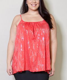 3deecf155a8 Sealed With a Kiss Designs Coral Sequin Tank - Plus