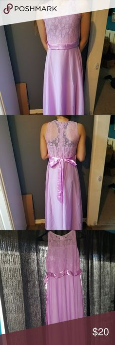 Girls light purple lacey sheer size 14 dress Brand new never worn other then to take the pics to post here size 14 dress light purple/pinkish lacey sheer dress. Dresses Formal