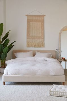 Bed Frame Queen No Box Spring Required Bed Frames With Headboard Full Platform Bedroom, Wood Platform Bed, Queen Platform Bed Frame, Full Platform Bed, Modern Platform Bed, Upholstered Platform Bed Queen, White Upholstered Bed, Best Platform Beds, Bedroom Bed