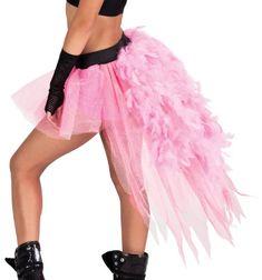 Feather Bustle Tutu,N7080PNKML,Pink,ML Double Platinum
