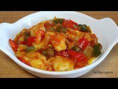 FRITADA DE BACALAO CON TOMATE. Exquisito - YouTube Tasty, Yummy Food, Thai Red Curry, Albondigas, Vegan, Dishes, Ethnic Recipes, Kitchen, Youtube