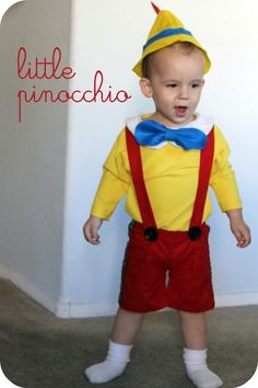 DIY Pinocchio Costume... aka, my ovaries are acting up again and getting me to the crazy point of thinking kids aren't so awful.