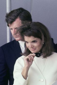 Jackie and Ted Kennedy.