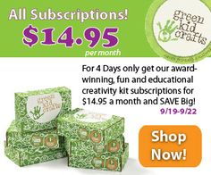 Green Kid Crafts Coupon - All Boxes $14.95 - Any length of subscription! - http://mommysplurge.com/subscription-box-coupon/green-kid-crafts-coupon-boxes-14-95-length-subscription/