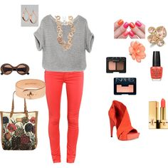 Coral, created by erinrobyn1 on Polyvore