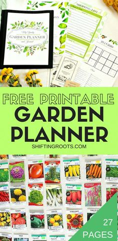 Planning a flower or vegetable garden this spring? Get organized with this free printable garden planner. Over 20 pages of checklists, grids, journal pages, trackers and more! Whether you container g Planner Free, Free Garden Planner, Vegetable Garden Planner, Printable Planner, Planner Book, Life Planner, Free Printables, Growing Tomatoes In Containers, Growing Vegetables