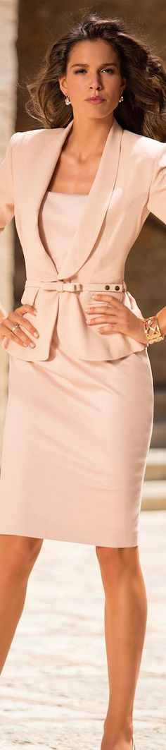 Love this - classy and feminine!  MADELEINE.....The Blush/Soft Pink Collection. #pink #suits