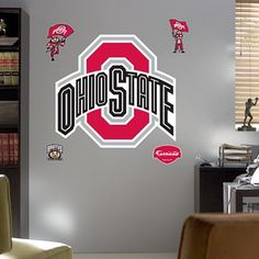 NCAA Collegiate team logo Wall Decal- Fatheads. Wall decals for major sports teams. A fun, fast, affordable way to decorate kids' rooms or playrooms!