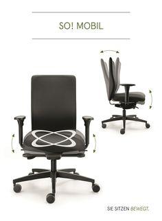 Der (neue) CYMO mit der patentierten  ERGO TOP Technik. ERGO TOP = allseits bewegliche Sitzfläche