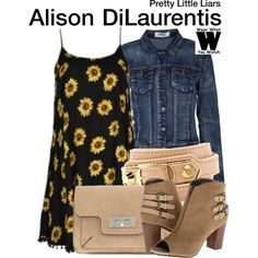 Inspired by Sasha Pieterse as Alison DiLaurentis on Pretty Little Liars - Shopping info! Pretty Little Liars Outfits, Pretty Little Lairs, Pll Outfits, Cute Outfits, School Outfits, Fashion Tv, Fashion Outfits, Fandom Fashion, Fashion Ideas