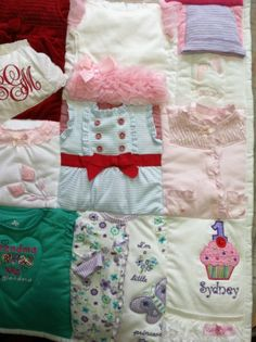 Memory Quilts from Baby Clothes - Amy Cavaness Designs