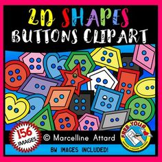 #2D #SHAPES #CLIPART: #RAINBOW #BUTTONS #CLIPART  ★★★THIS CLIPART BUNDLE CONTAINS 156 IMAGES: 13 #DESIGNS IN 12 #COLORS ★★★  THIS SET OF SHAPES CLIP ART IS PERFECT FOR YOUR GEOMETRY UNIT AND COLOR PRODUCTS! A REAL DEAL :)