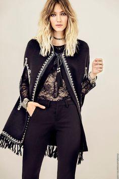 New Moda Invierno 2019 Boho Ideas Fashion 2017, Boho Fashion, Winter Fashion, Fashion Outfits, Womens Fashion, Fashion Design, Fashion Trends, Casual Chic, Look Boho Chic