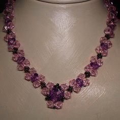 Free Crystal Necklace Pattern at Sova-Enterprises.com