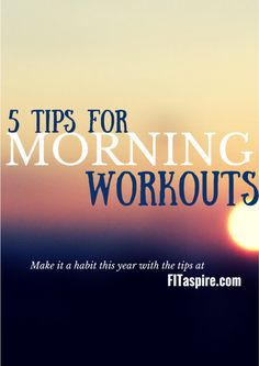 Over the past few years, I've been successful at making morning workouts a habit! These tips are based on my experience as someone who would rather be in bed, but knows that getting my workout done is best for me. My hope is these tips make the experience easier for you!