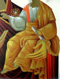 . Byzantine Icons, Byzantine Art, Religious Icons, Religious Art, Icon Clothing, Creativity Exercises, Blessed Mother Mary, Painted Clothes, Catholic Art